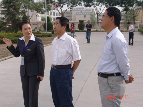 教育厅孙杰副厅长、高教处刘玉泉处长来我院检查指导工作