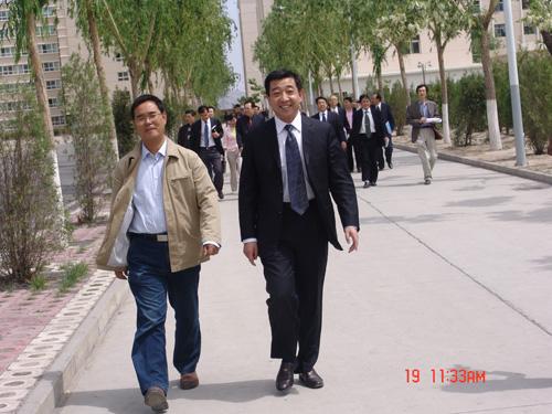 省教育厅高教处刘玉泉处长来我院检查指导工作